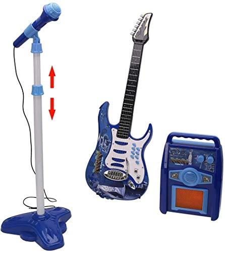 Instrumentos de cuerda para niños Conjunto de instrumentos musicales de guitarra eléctrica...