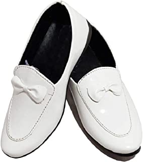 FOOTONREST Boys Latest White Color Outdoor Formal Casual Ethnic Daily Use Kids Loafers Shoes 1 Year to 7 Years Kids