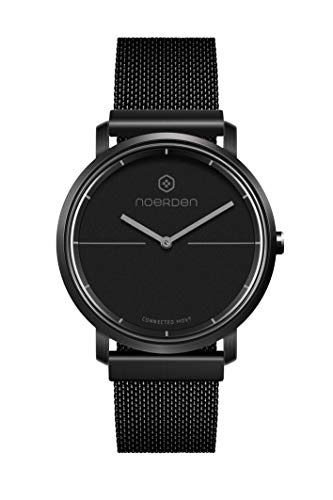 NOERDEN LIFE2+ – Schwarz - Milanaise – Hybride Smart Watch – 38 mm