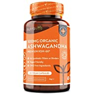 ✔ WHY NUTRAVITA'S ORGANIC ASHWAGANDHA KSM-66 CAPSULES? - Our Ashwagandha supplement contains 500mg of full-spectrum Ashwagandha root extract per serving and comes with a 2 month supply as you only need to take 1 capsule daily to benefit from our natu...