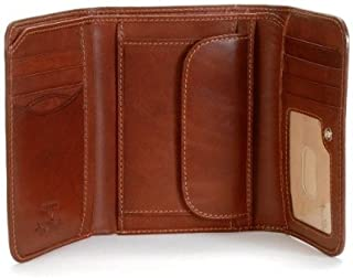 Tony Perotti Italian Leather Trifold Clutch Wallet With Id and Coin Pouch
