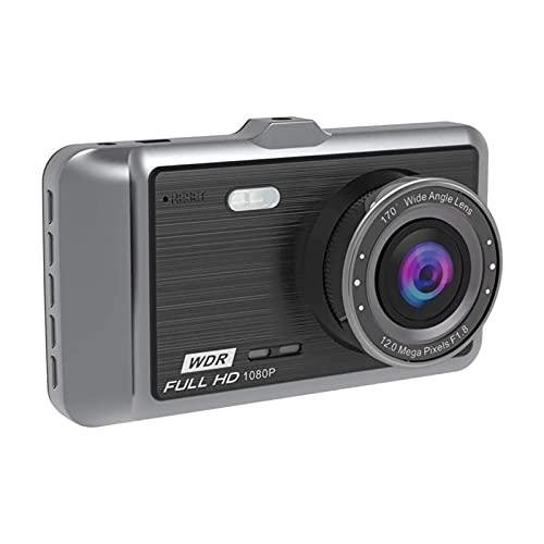 XTZJ Dash Cam Front, grabadora de conducción de automóviles de 1080p 3 '' IPS Pantalla 170 ° Cámara de aleación de aluminio de la cámara de 170 °, Detección de movimiento de la grabación de la