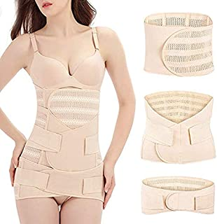 Cocosmart Body Shaper For Women Tummy Firm For Dress Best Seller Postpartum Recovery Headband, 3 Pieces Breathable Elastic...