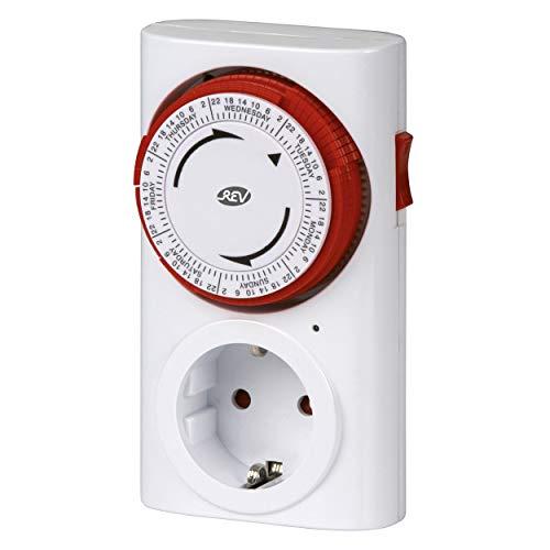 REV 0025410103 Zeitschaltuhr, mechanisch, 96 Zeiten/Tag, 15Min. 3680W, weiss