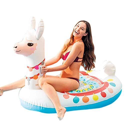 YLJYJ Flotador de Piscina de Alpaca, Juguete Inflable Gigante, flotadores de natación al Aire Libre, tumbonas de Piscina de Verano, Flotador Inflable de Juguete con rápido