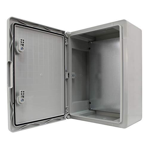 Schaltschrank IP65 Industriegehäuse verzinkter Montageplatte Verriegelung Tür mit umlaufender Dichtung Gehäuse Leergehäuse ABS Kunststoff Schrank (300x400x170mm)
