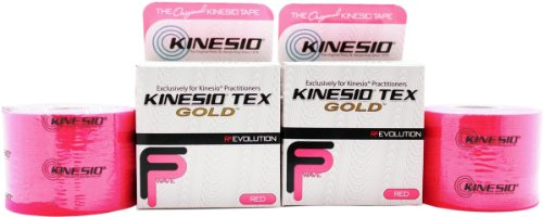 Kinesio Taping - Kinesiology Tape Tex Gold FP - 2 Pack - Red - 2 in.