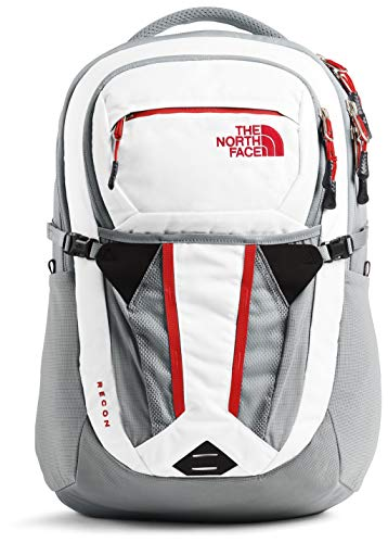 The North Face Women's Recon Backpack, TNF White Heather/Mid Grey, One Size