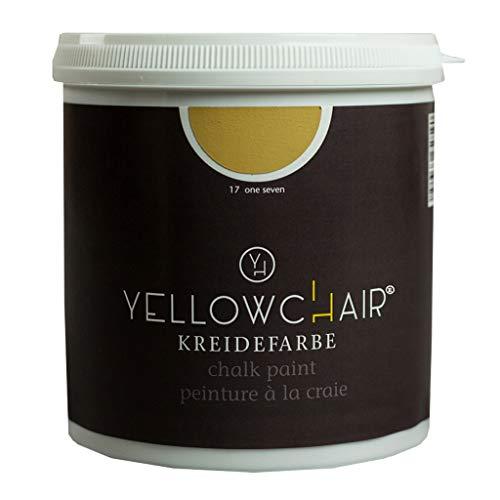 Kreidefarbe yellowchair 1 Liter ÖKO für Wände und Möbel Shabby Chic Vintage Look (No. 17 ockergelb)