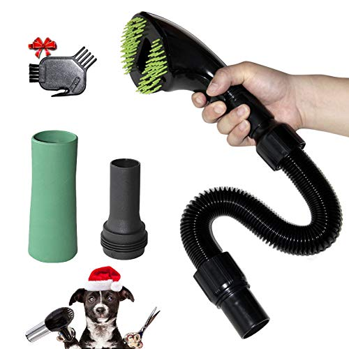 Gforest Pet Vacuum Grooming Brush Hair Shedding Deshedding Attachment Tool Kit Great for Dogs and Cats