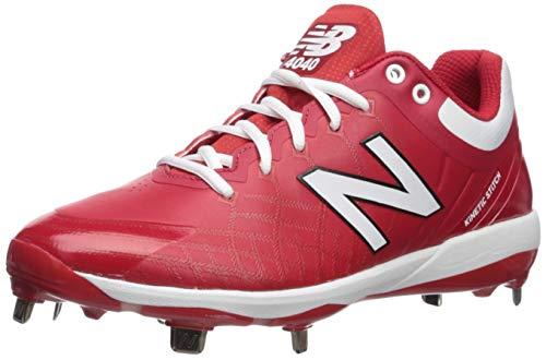 New Balance 4040v5 Chaussures de Baseball en métal pour Homme - - Rouge/Blanc, 41 EU