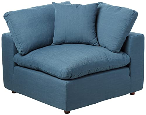 Modway Commix Down-Filled Overstuffed Upholstered Sectional Sofa Corner Chair in Azure