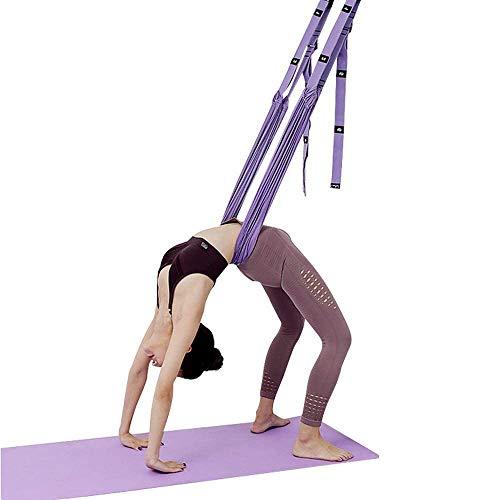 Yoga Trapeze, Taille zurück Leg Stretch Strap Tür Backbend Assist Trainer Yoga Straps für Stretching zurück Bend-Split Inversion Band für Fitness Tür Flexibilität Trainer,Lila