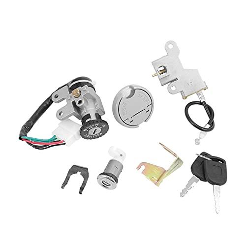 Interruptor De Encendido,Interruptor De Encendido Interruptor de Encendido Clave Bloqueo de Encendido 5 Scooter Encendido Interruptor de Encendido Conjunto de Teclas de Contacto para ciclomotor 110 1