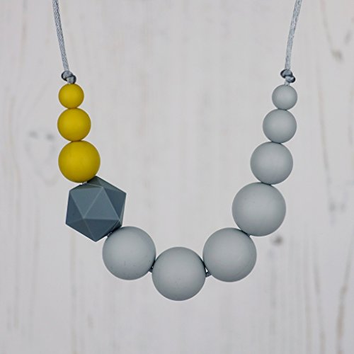 Teething and Nursing Necklace, Mustard Colour Pop, Breastfeeding Fiddle Beads, Sensory Aid