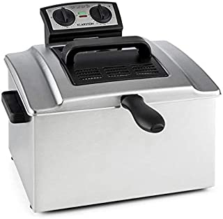 Klarstein QuickPro XXL 3000 - Friteuse, 3000 W, Grand volume 5 L, 1,5 kg max. de friture, Jusqu'à 190 °C, Réglable en cont...