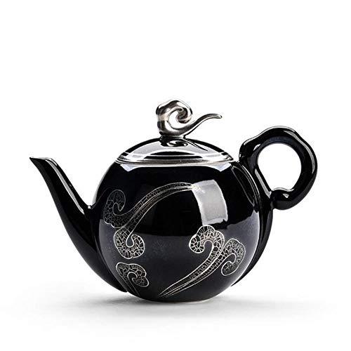 LHXS retro sterling zilver Kung Fu thee set handgemaakte zilveren pot set thuis Kung Fu thee set Xiangyun theepot