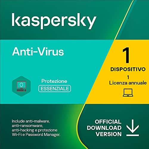 Kaspersky Anti-Virus 2021 | 1 PC | 1 Anno | PC | Codice d attivazione via email
