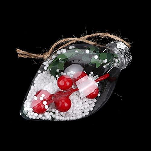 ROMACK Bolas de Navidad Transparentes, Bola de Adorno de árbol de Navidad, rellenable para escaparates de Banquetes de Boda, decoración del hogar para Embalaje de Regalo(771C)
