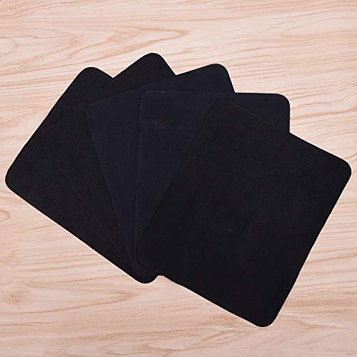 Miner 5 stuks zwarte bril lens doekjes microfiber lenzenvloeistof reinigingsdoek voor camera computerscherm