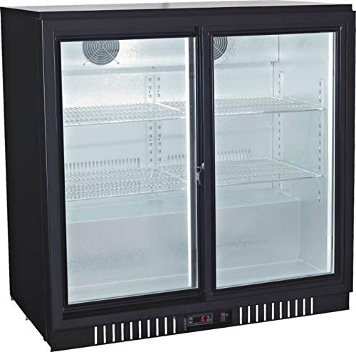 Procool Refrigeration Sliding 2-door Glass Front Back Bar Beverage Cooler; 36' Wide, Counter Height Refrigerator