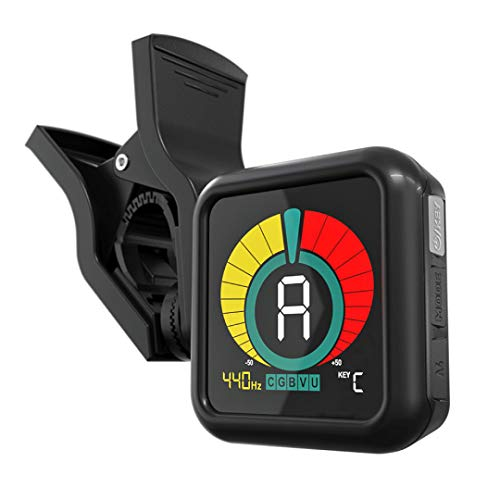 KLIQ UberTuner - Professional Clip-On Tuner for All Instruments - with Guitar, Ukulele, Violin, Bass...