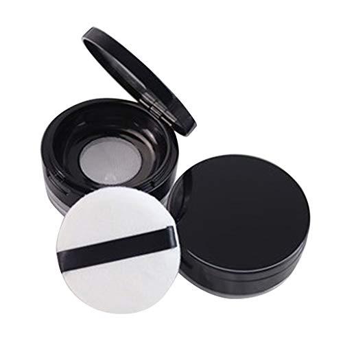 Toygogo 20g Boîte Poudre Puff Récipients Vides Boîtes de Maquillages avec Houppette Eponge et Miroir pour DIY Cosmétiques