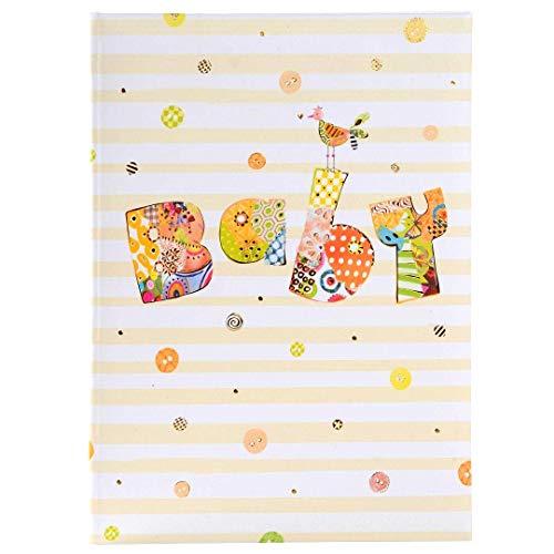 goldbuch Babytagebuch, Baby Circle, 21 x 28 cm, 44 illustrierte Seiten, Kunstdruck mit goldprägung und Relief, Weiß/Orange, 11317
