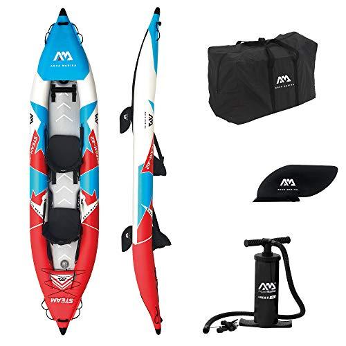 Aquamarina Unisex– Erwachsene 2 Posti Kayak Steam-412 Kajak, Rot/Blau/Weiß, Uni