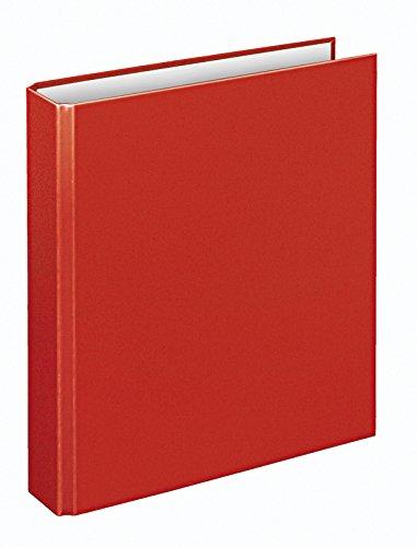 Veloflex 1153020 Ringordner Basic, Ringbuch, Ordner, DIN A5, 4-Ring-Mechanik, 196 x 230 x 30, Karton, rot