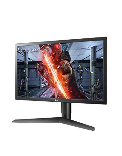 LG Ultragear 24 inch (60.96 cm) 144Hz, Native 1ms Full HD Gaming Monitor with Radeon Freesync - TN Panel with Display Port, HDMI, Height Adjust Stand - 24GL650F (Black)