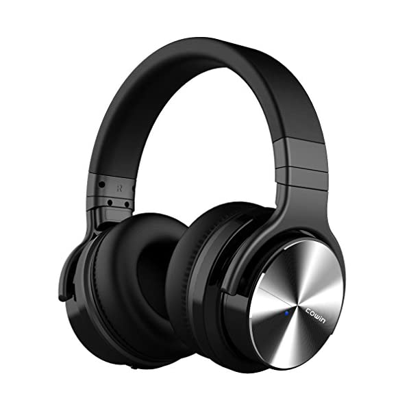 COWIN E7 PRO [Upgraded] Active Noise Cancelling Headphones Bluetooth Headphones with Microphone/Deep Bass Wireless Headphones Over Ear 30 Hours Playtime for Travel/Work/Cellphone, Black 3