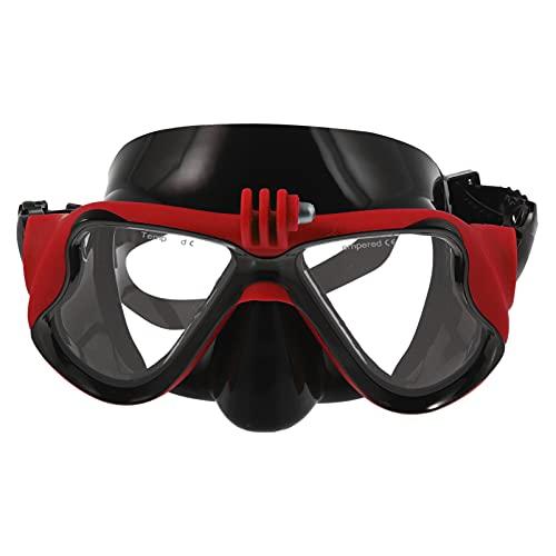 BESPORTBLE Gafas de Buceo de Cámara Montura de Buceo Impermeable Equipo de Ecualización de Presión de Buceo Red Snorkel Equipo de Cámara para Gafas de Snorkel de Cámara Deportiva