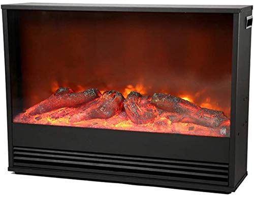 KAUTO Calefacción de Chimenea empotrada eléctricamente con Efecto de Llama Realista y Control Remoto –1500 W Diseño de Panorama de Llama y Temper