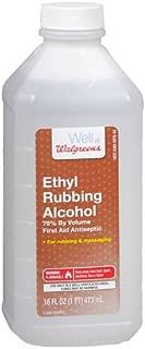 Walgreens Ethyl Rubbing Alcohol 70% First Aid Antiseptic 16 fl oz (473 ml)
