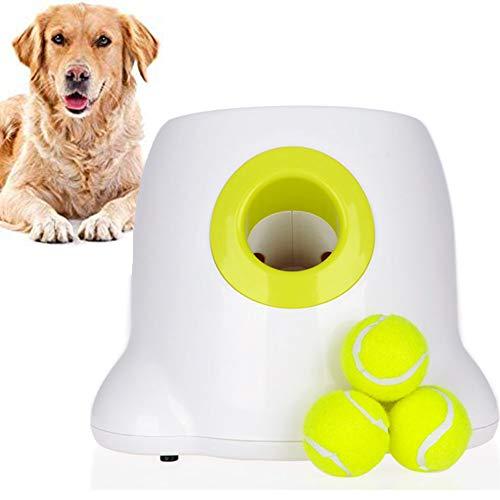 HZHHH Perro Interactivo Interactivo Lanzador Automático De Los Juguetes De La Bola del Lanzador, Alimentador Automático De Perro con Las Pelotas De Tenis para Los Perros para Jugar Y Entrenar