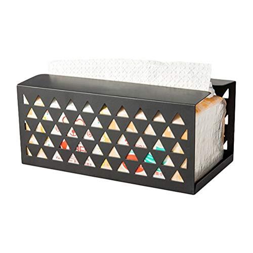Iron Tissue Box servet papieren doos Zwart
