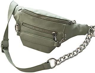 TOOGOO Women'S Casual Pockets Chest Bag Fashion Pockets Pu Pockets Ladies Messenger Bag Black