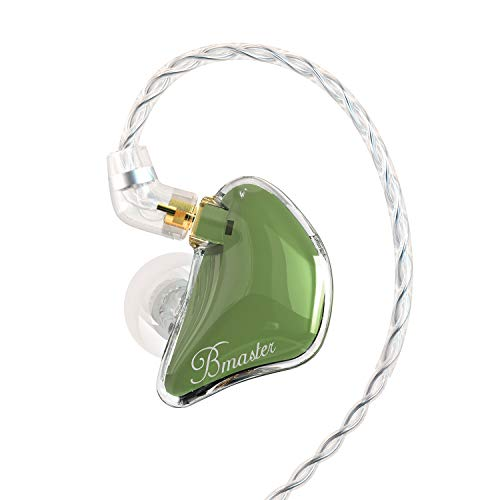 BASN Bmaster in Ear Monitor Headphones for Musicians, Hybrid Triple Drivers Dynamic Earbuds, Sound Isolating Earphones with 2 Detachable MMCX Cables (Olive)