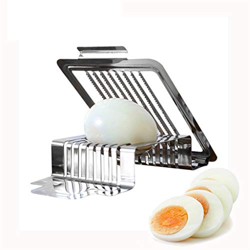 Fikujap Steel Slicers Kitchen Tool, Egg Slicer, Multifunctional Fruit Cutter, for Salted Eggs Mushroom Tomato Slicer