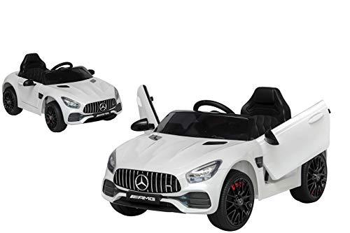 Toyscar Auto Macchina Elettrica per Bambini Mercedes AMG GT 12V Porte Apribili Full Optional con Telecomando