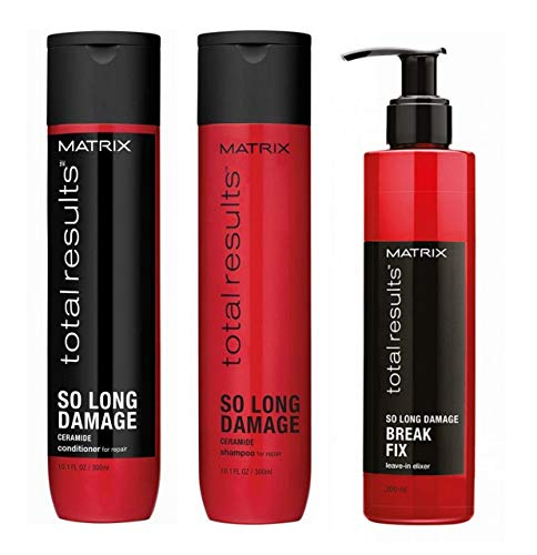 MATRIX TOTAL RESULTS So Long Damage Shampoo 300ml + Balsamo 300ml + Break Fix 200ml
