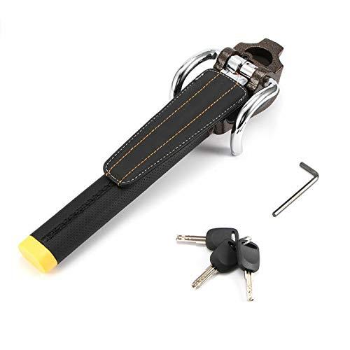 Riloer - Blocco volante universale pieghevole antifurto per auto, con 3 chiavi