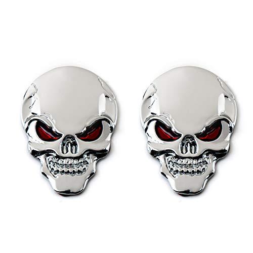 Skino/™ 4 x 70mm Domed 3D Wheel Rims Center Stickers for HUB CAPS Skull SKELETT Middle Finger AUTO Moto CAR Logo Badge Wheel Trim A 3470