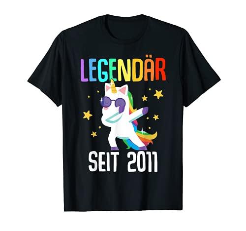 10. Geburtstag Junge Mädchen 10 Jahre 2011 Einhorn Geschenk T-Shirt