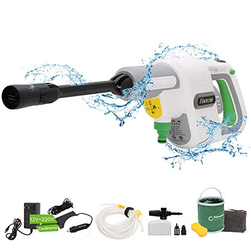 Cordless Pressure Washer Portable 2600mAH Lithium Battery Powered Compact Handheld Pressure Cleaner for Washing Cars,Cleaning Floors,Windows,etc. - 2pcs Charger and 7pcs Cleaning Accessories Included