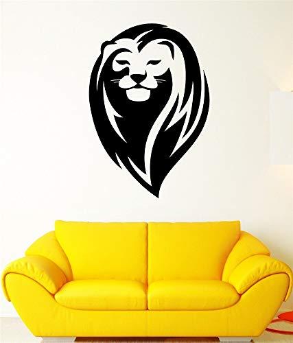 Fototapete Lion King Mähne Wild Cat Head Schöne Tier Aufkleber