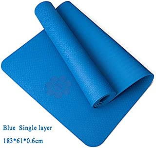 Extra Thick Yoga Mat Extra Thick Non-Slip Foam Yoga Mats Free Bags for Fitness Tasteless Pilates Gym Exercise Pads with Yoga Strap 183cmX61cm Blue