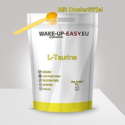 1kg L-Taurine, pure powder, incl. measuring spoon, 1000g Taurine