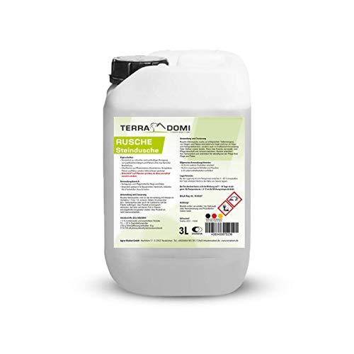 Terra Domi Rusche Steindusche, 3 Liter Steinreiniger, Reinigungsmittel für saubere Wege & Plätze, Wegerein, biologisch abbaubar